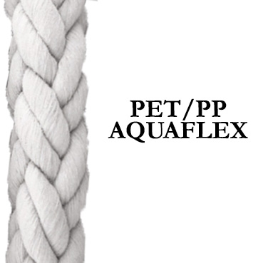 Aquaflex  - 12 strand shipping rope – Polyester/polypropylene blend