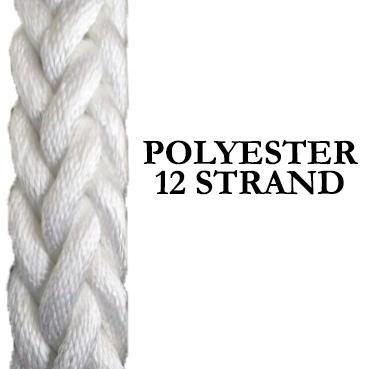 Polyester Shipping Rope – 12 Strand Hawser