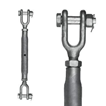 Galvanised Fork/Fork Riggingscrew - Rated