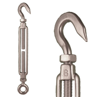 Stainless Steel Hook/Eye Turnbuckle - Premium