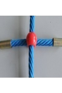 Cross Type Playground Rope Connector - Plastic Coated Aluminium